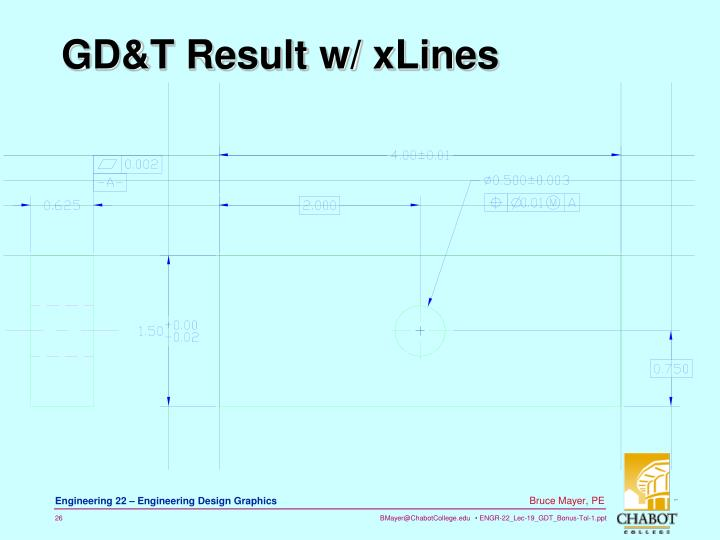 GD&T Result w/ xLines