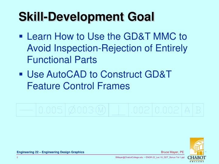 Skill development goal