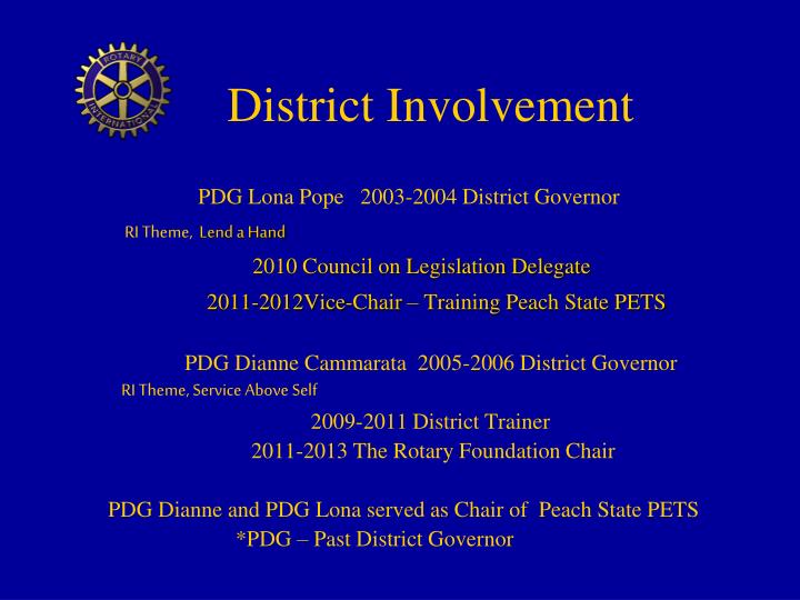 District Involvement