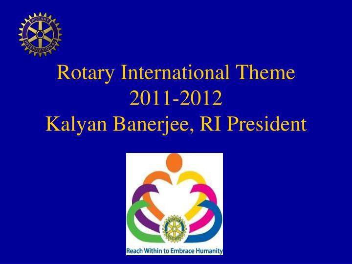 Rotary International Theme