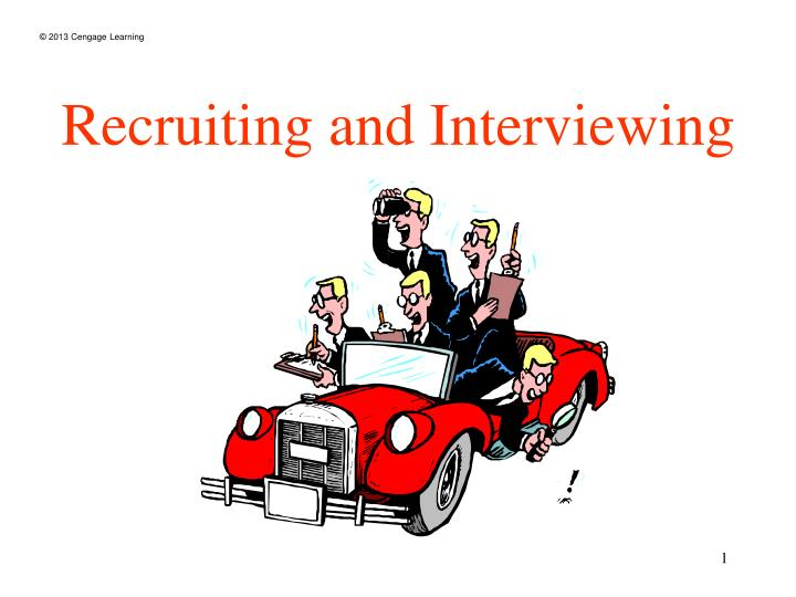 recruiting and interviewing n.