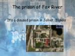 the prison of fox river