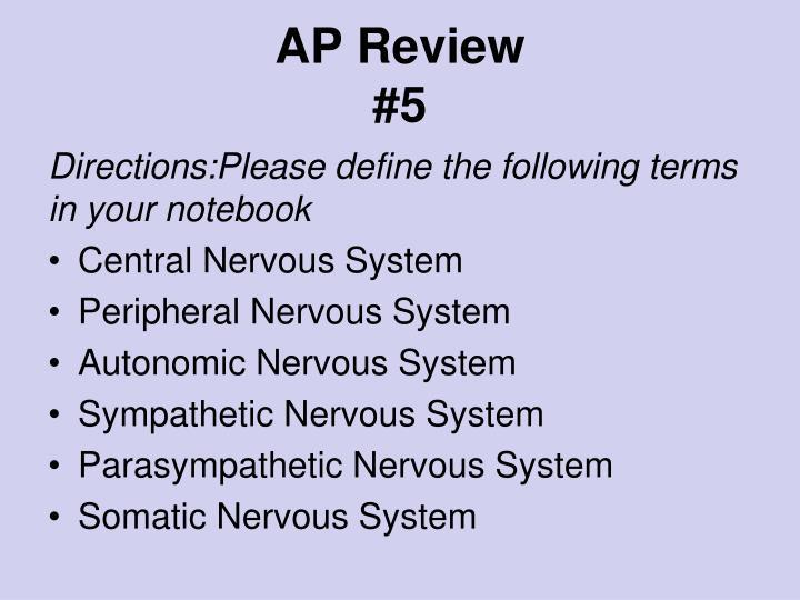 ap review 5 n.