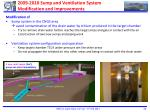 2009 2010 sump and ventilation system modification and improvements