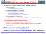 cngs challenges and design criteria