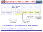 intensity limitations from the cngs facility
