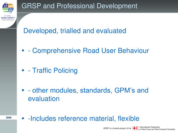 GRSP and Professional Development