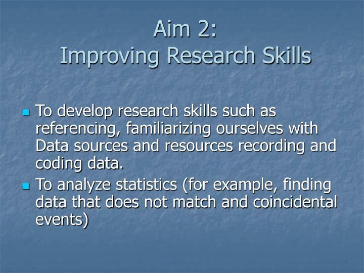 Aim 2: