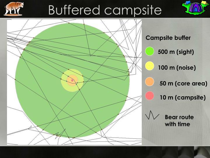 Buffered campsite
