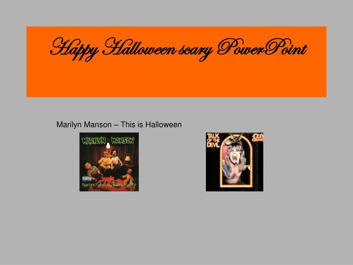 happy halloween scary powerpoint n.