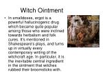 witch ointment
