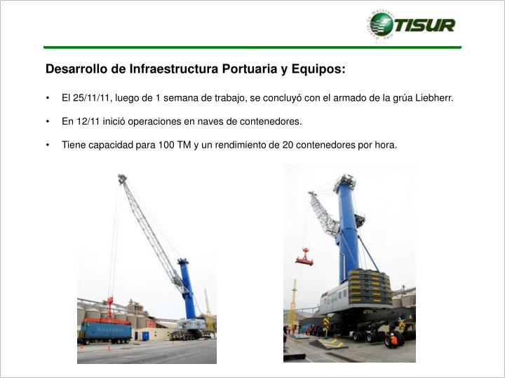 Desarrollo de Infraestructura Portuaria y Equipos: