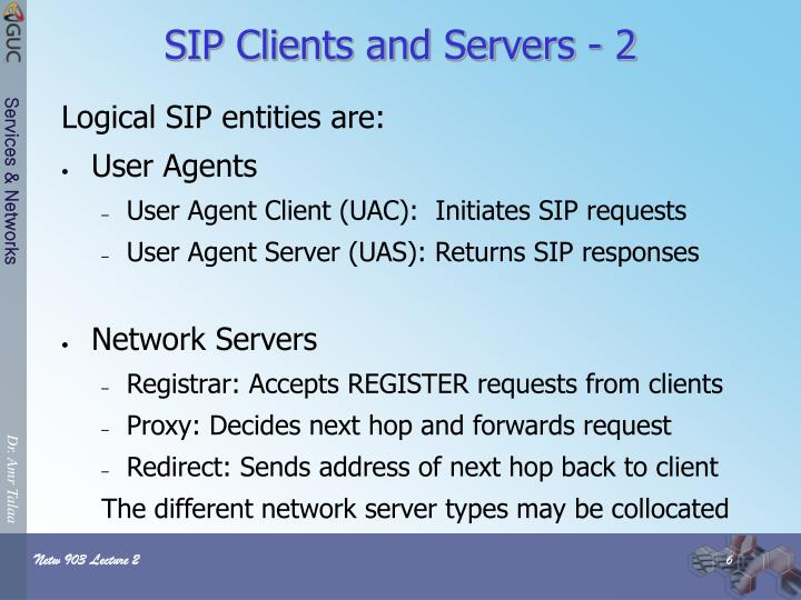 SIP Clients and Servers - 2