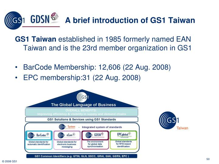 A brief introduction of GS1 Taiwan