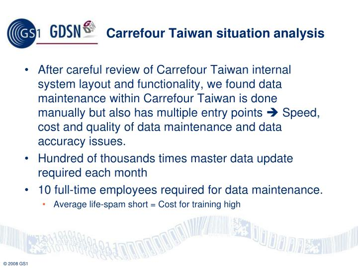 Carrefour Taiwan situation analysis