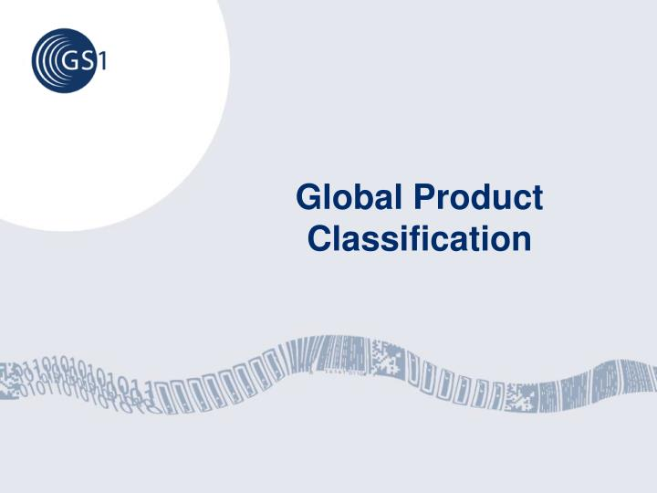 Global Product Classification