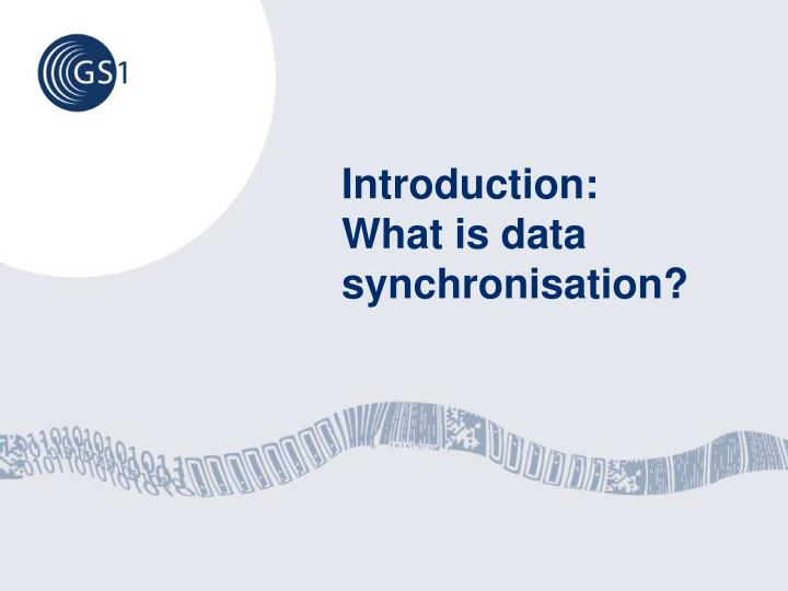 Introduction what is data synchronisation