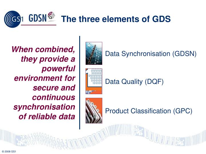 Data Synchronisation (GDSN)