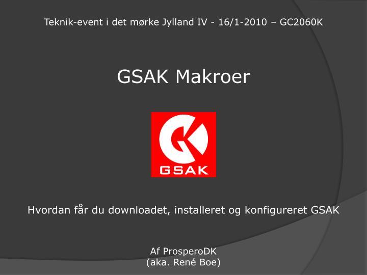 Teknik-event i det mørke Jylland IV - 16/1-2010 – GC2060K