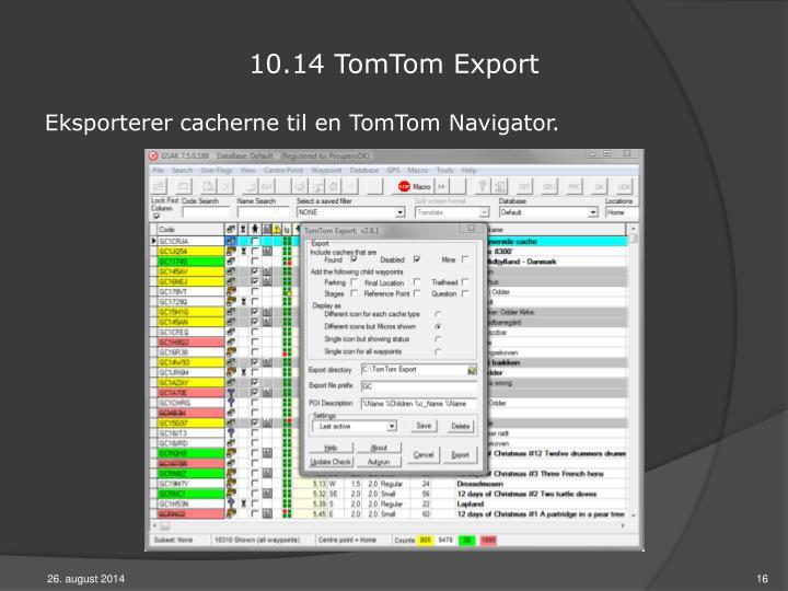 10.14 TomTom Export