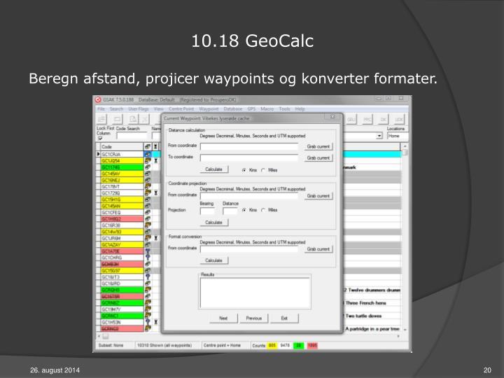10.18 GeoCalc