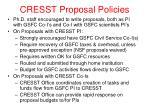 cresst proposal policies