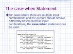 the case when statement