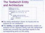 the testbench entity and architecture