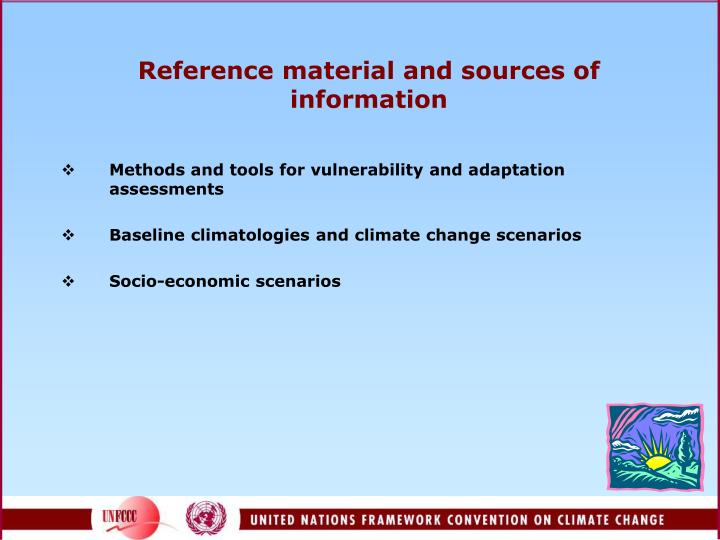 Reference material and sources of information