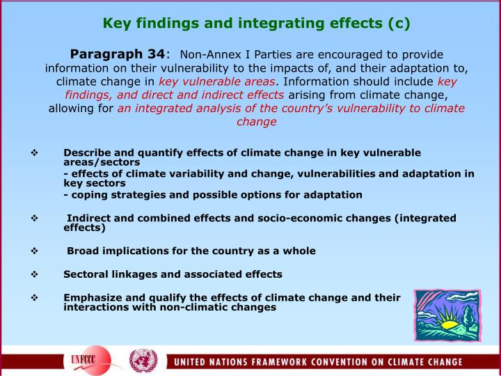 Key findings and integrating effects (c)