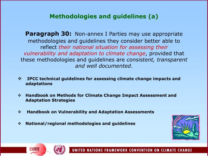 Methodologies and guidelines (a)
