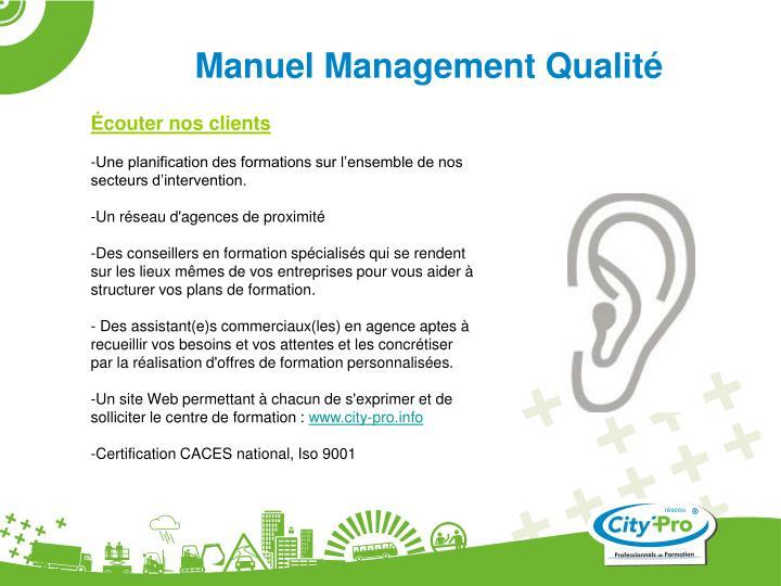 Manuel Management Qualité