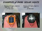 examples of bwm solar lights