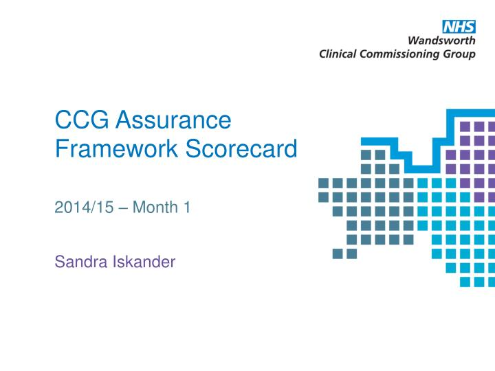 ccg assurance framework scorecard n.