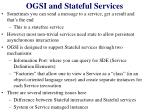 ogsi and stateful services