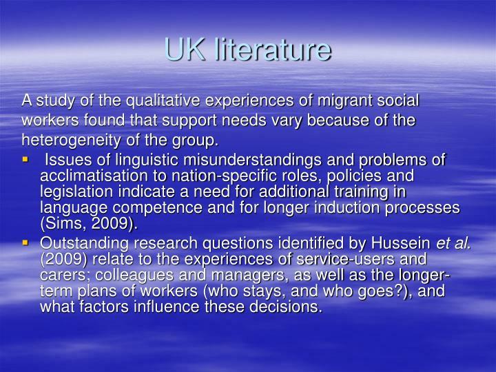 UK literature