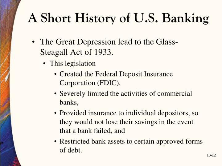 A Short History of U.S. Banking
