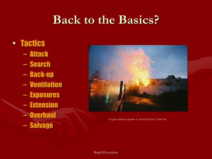 Back to the Basics?