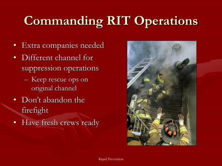 Commanding RIT Operations