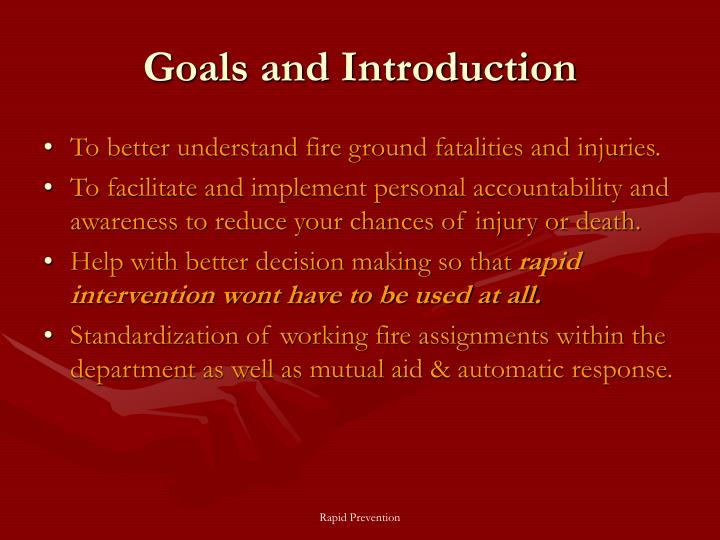 Goals and Introduction