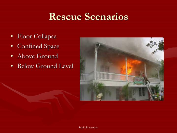Rescue Scenarios