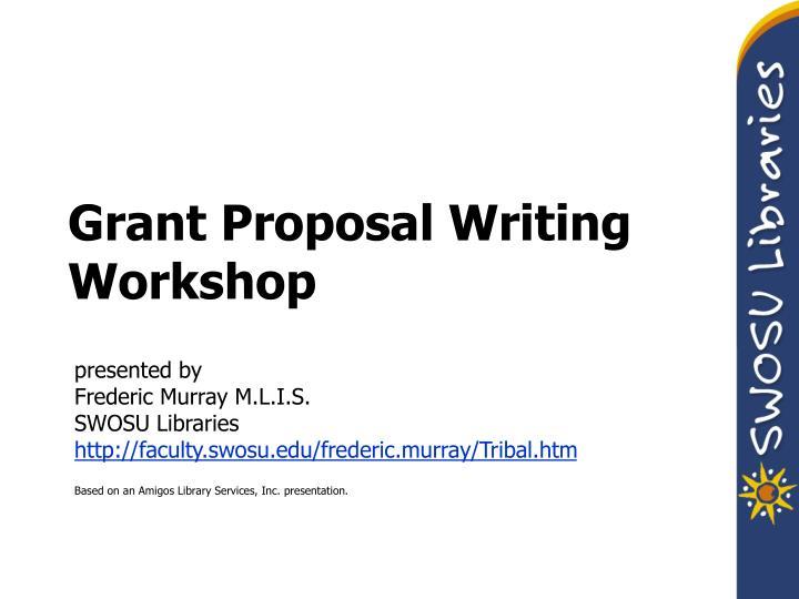 grant proposal writing workshop n.