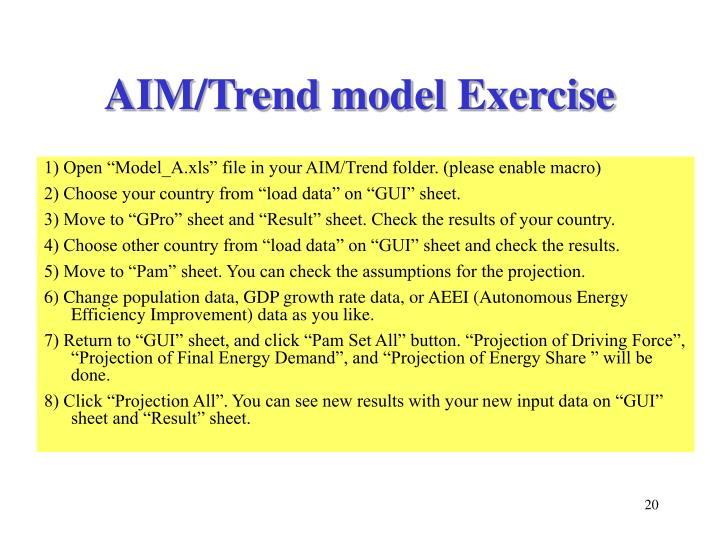 AIM/Trend model Exercise