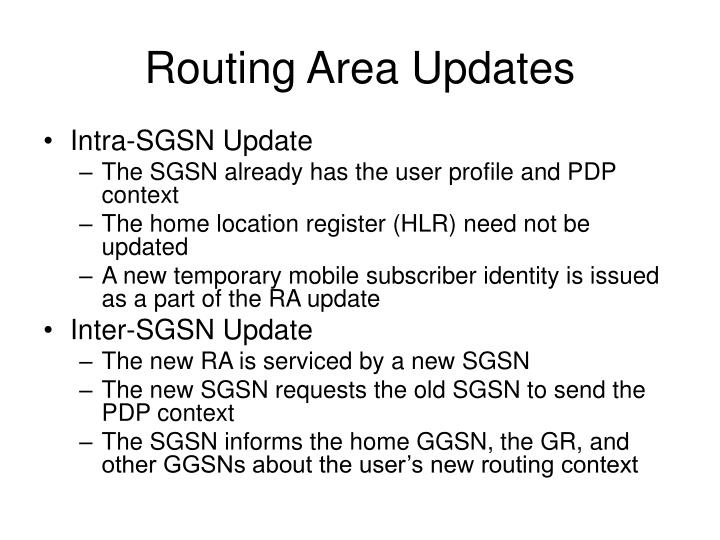 Routing Area Updates