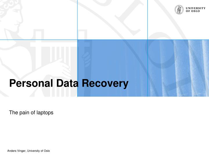 personal data recovery n.