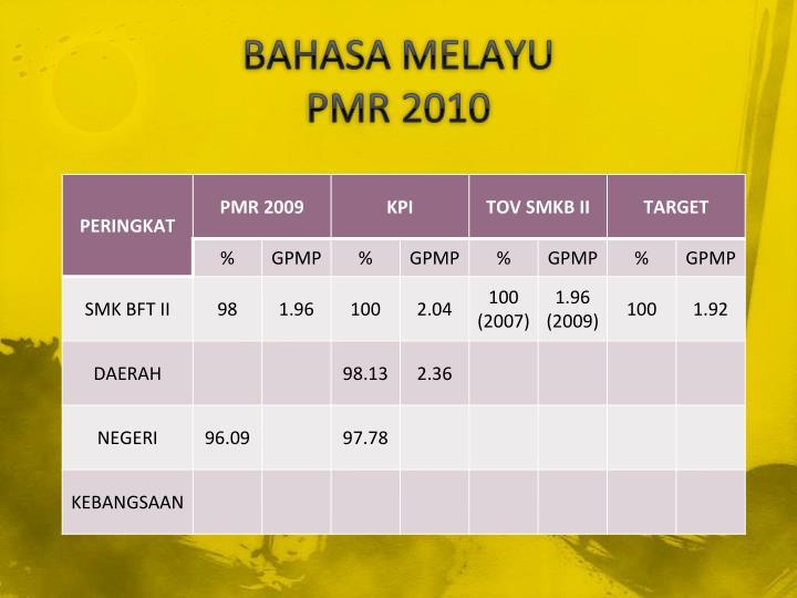 Bahasa melayu pmr 2010