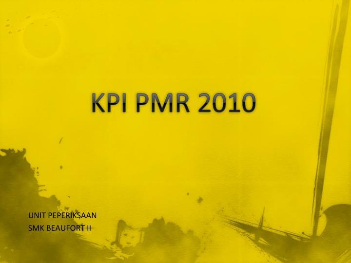 Kpi pmr 2010