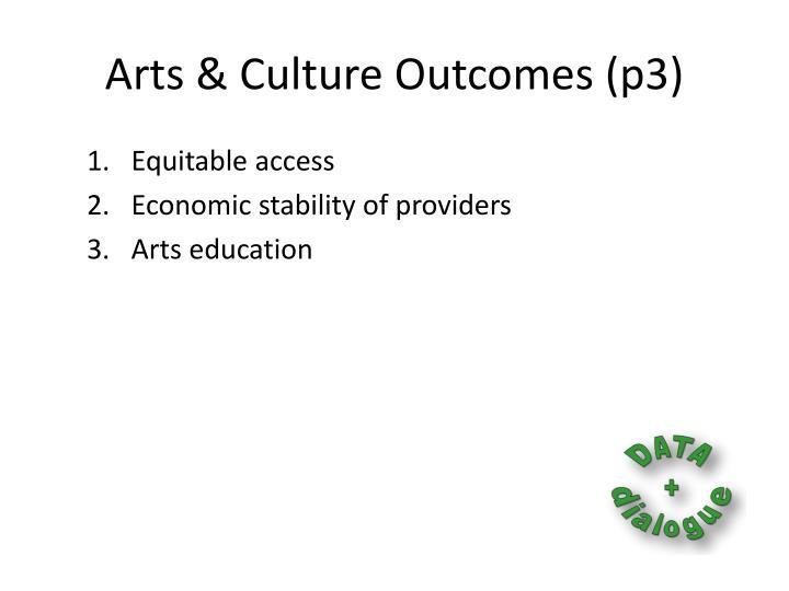 Arts & Culture Outcomes (p3)