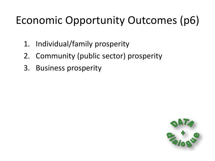 Economic Opportunity Outcomes (p6)