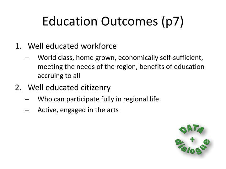 Education Outcomes (p7)